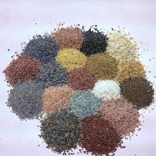 天然彩砂的性能特点